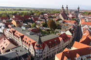 Aerial view of the Luther-Hotel and Wittenberg