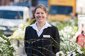 Deputy Reservation Manager Luther-Hotel Katja Adolf in Wittenberg
