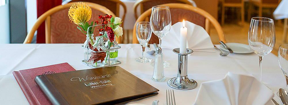 Luther Hotel Restaurant Von Bora Gedeckter Tisch
