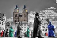 Luther-Figuren Marktplatz Wittenberg