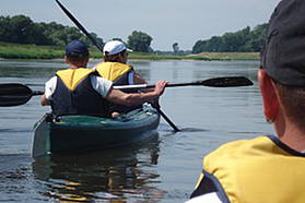 Paddling along the Elbe River